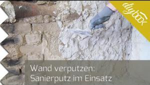 Embedded thumbnail for Wand verputzen: Sanierputz im Einsatz