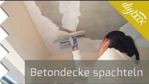 Embedded thumbnail for Betondecke spachteln