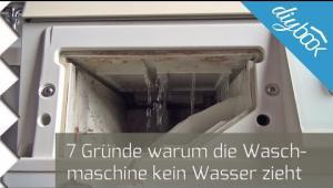 Embedded thumbnail for Zulauf prüfen: 7 Gründe, warum die Waschmaschine kein Wasser zieht