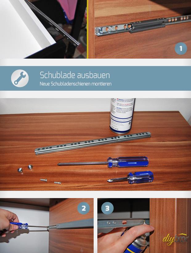 Schublade Ausbauen Neue Schubladenschienen Montieren